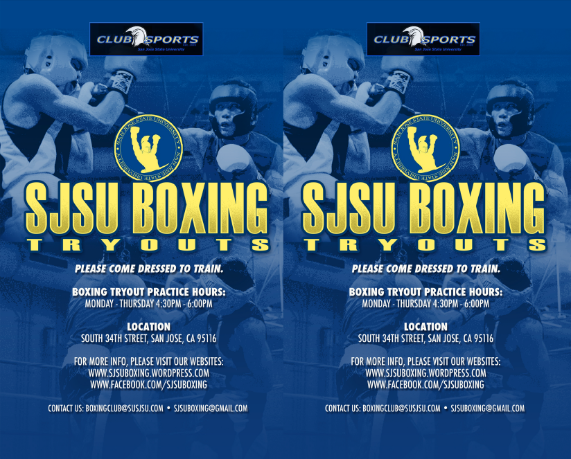SJSU BOXING Tryout Period